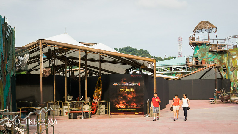 Universal Studios Singapore - Park Update July 2014 - Halloween Horror Nights 4, HHN4 construction of haunted house