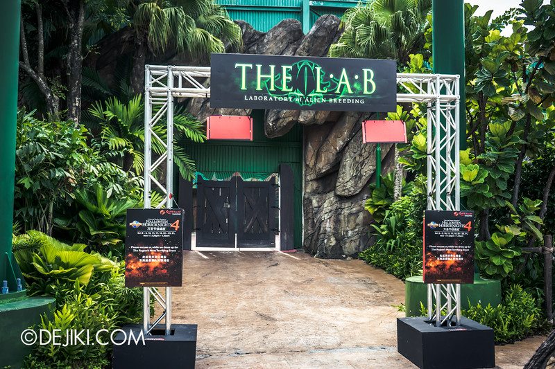 Halloween Horror Nights 4 Singapore - Before Dark 2 - The L.A.B Laboratory of Alien Breeding 1