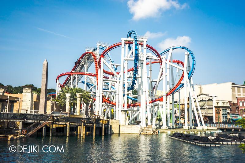 Universal Studios Singapore - Park Update October 2014 - Battlestar Galactica BSG roller coaster 1