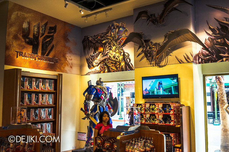 Universal Studios Singapore - Park Update July 2014 - Transformers: Age of Extinction Store Display 1