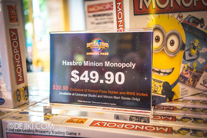 Universal Studios Singapore - Park Update June 2014 - USS Minion Mart / Despicable Me Monopoly Board Game 4