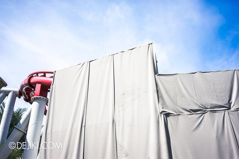Universal Studios Singapore - Park Update June 2014 - Battlestar Galactica Rollercoaster Repair Works 1