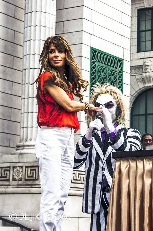 Universal Studios Singapore - Grand Opening 2011 - Paula Abdul and Beetlejuice 1