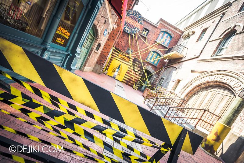 Universal Studios Singapore - Halloween Horror Nights 5 Before Dark Day Photo Report 1 - ConTERMINATED scare zone, entrance