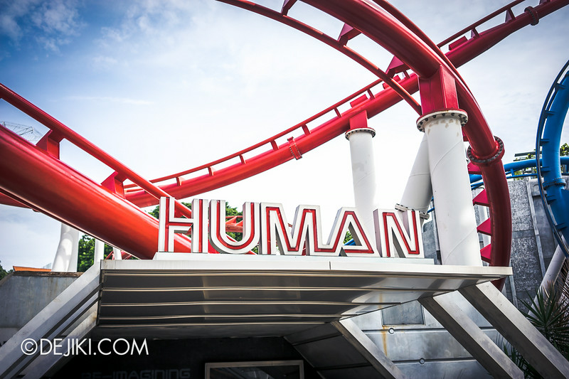 Universal Studios Singapore - Park Update July 2014 - BSG Battlestar Galactica roller coaster repair works - new update 4