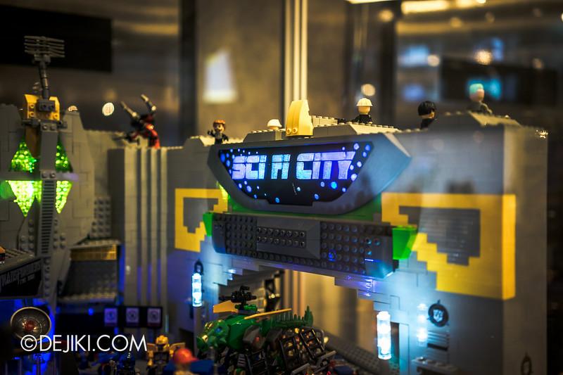 Universal Studios Singapore - Park Update July 2014 - Transformers Sci-Fi City KRE-O Diorama at Transformers Supply Vault 6