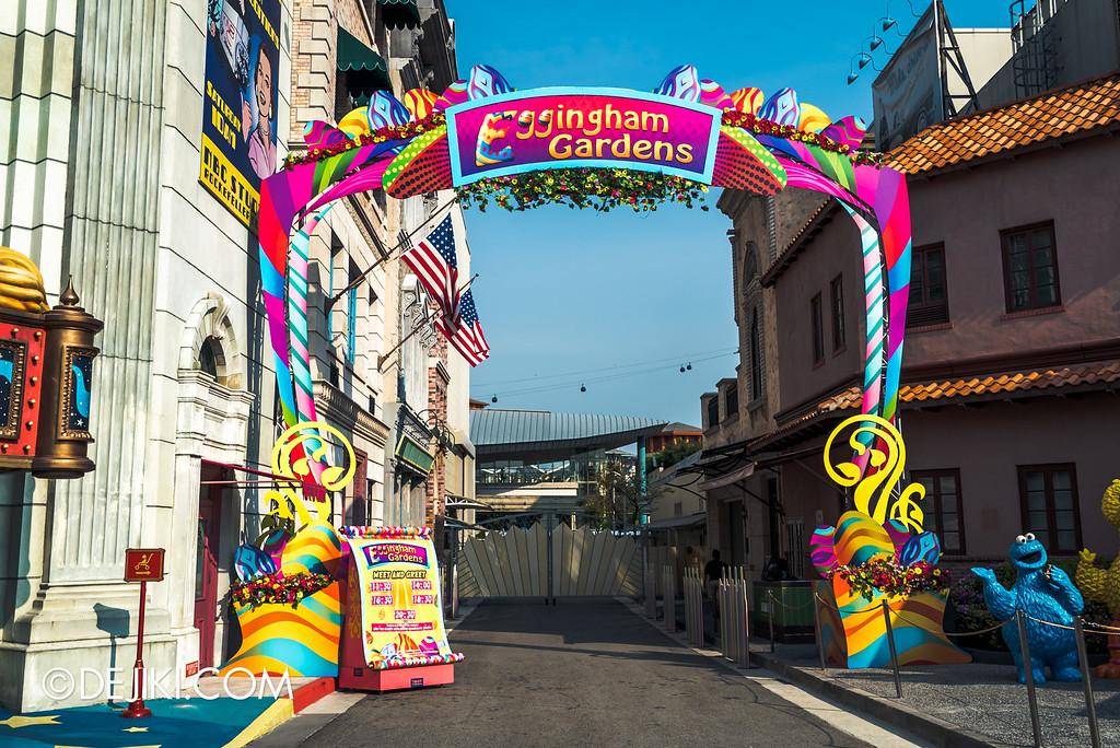 Universal Studios Singapore - Easter Eggstravaganza 2016 Event - Eggingham Gardens arch
