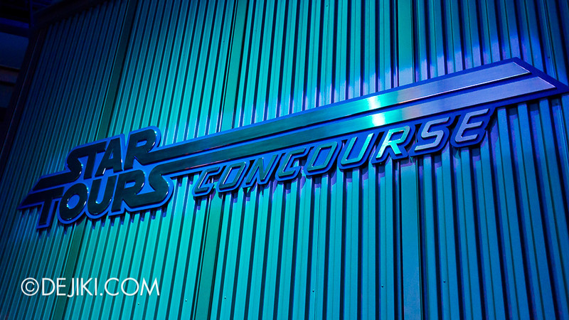 Star Tours: The Adventures Continue, queue concourse 8