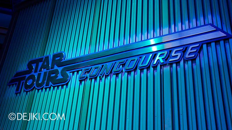 Star Tours: The Adventures Continue, queue concourse 8