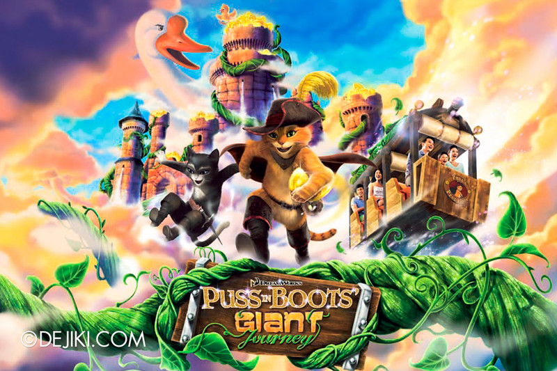 Universal Studios Singapore - Park Update January 2015 - Puss in Boot's Giant Journey concept