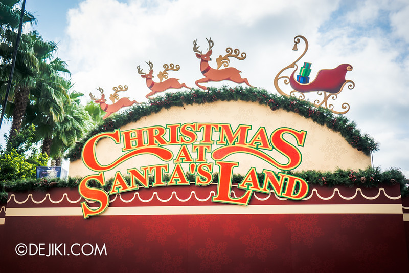 Universal Studios Singapore - Park Update November 2014 - USS Christmas Event Construction 1 - Christmas at Santa's Land