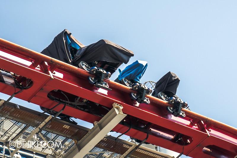 Universal Studios Singapore - Park Update October 2014 - Battlestar Galactica BSG roller coaster 6