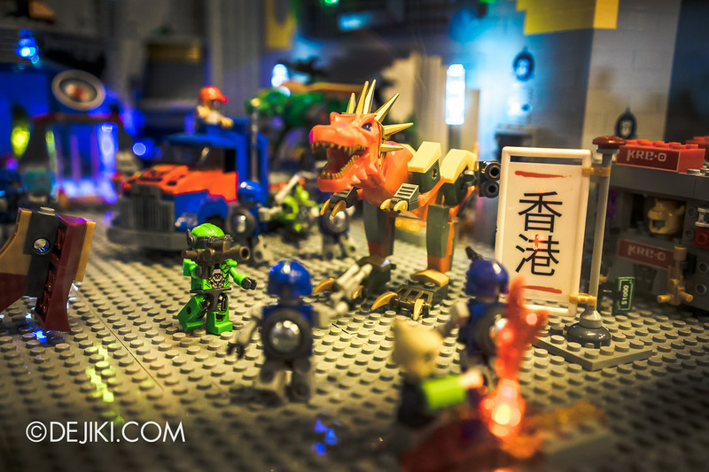 Universal Studios Singapore - Park Update July 2014 - Transformers Sci-Fi City KRE-O Diorama at Transformers Supply Vault 9