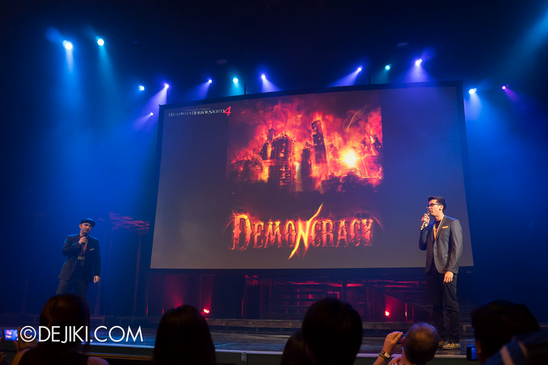 USS HHN4 Halloween Horror Nights 4 - Media Preview Launch event / Jason Ramsburg and Scott D Peterson introduces DEMONCRACY