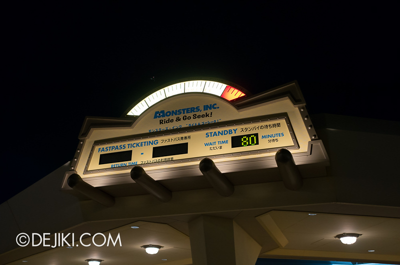 Monsters, Inc. Wait Time at Night