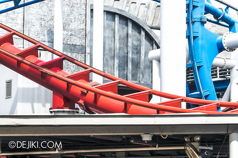 Universal Studios Singapore - Park Update June 2014 - Battlestar Galactica Rollercoaster Repair Works 3