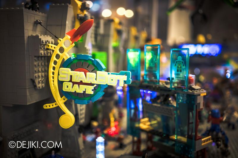Universal Studios Singapore - Park Update July 2014 - Transformers Sci-Fi City KRE-O Diorama at Transformers Supply Vault 3