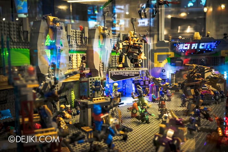 Universal Studios Singapore - Park Update July 2014 - Transformers Sci-Fi City KRE-O Diorama at Transformers Supply Vault 2