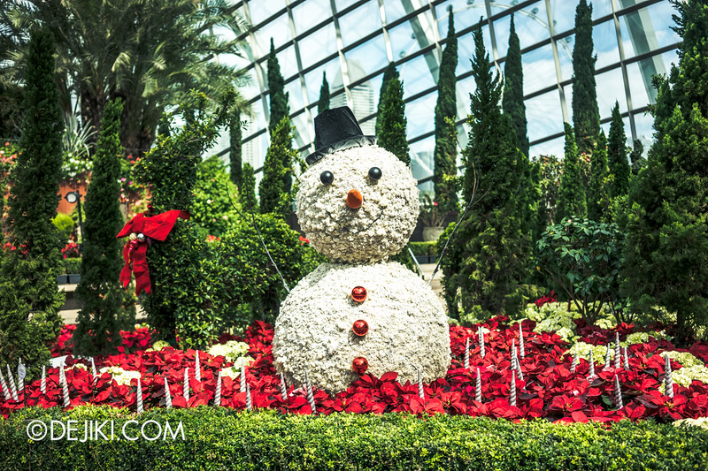 Gardens by the Bay - Yuletide in the Flower Dome - Snowman, Christmas setup 2
