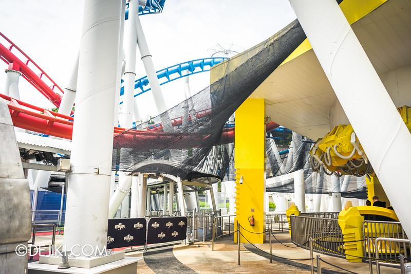 Universal Studios Singapore - Park Update February 2015 - Battlestar Galactica dueling roller coasters reopening - amazing nets 2