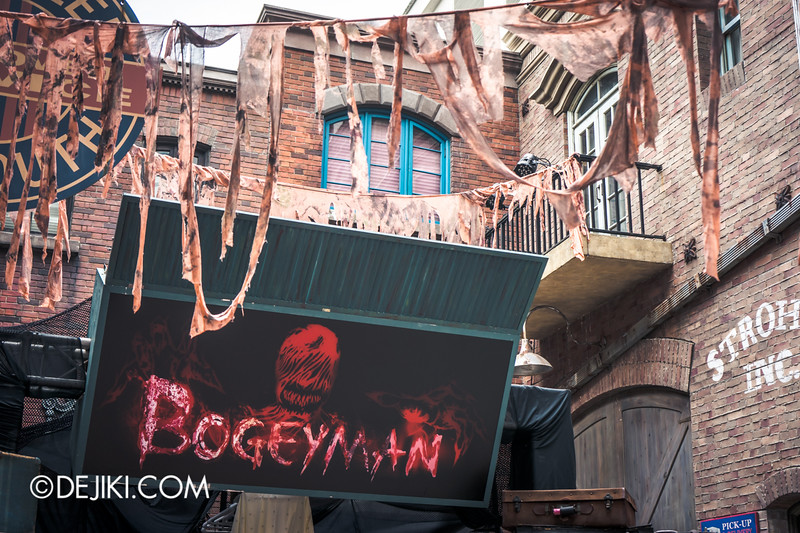 Halloween Horror Nights 4 Singapore - Before Dark 2 - Bogeyman scarezone 14 / Rags hanging around