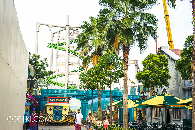Universal Studios Singapore - Park Update July 2014 - Puss in Boots rollercoaster update 5