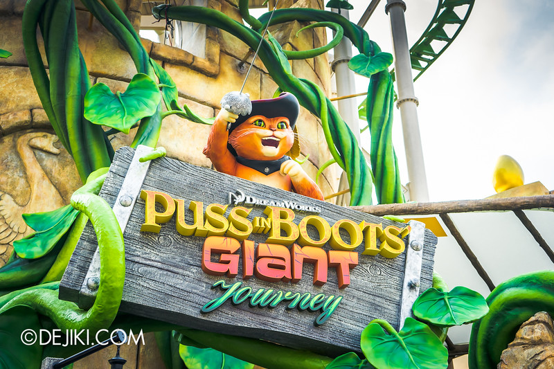 Universal Studios Singapore - Park Update April 2015 - Puss in Boots' Giant Journey ride - Attraction Entrance Signage