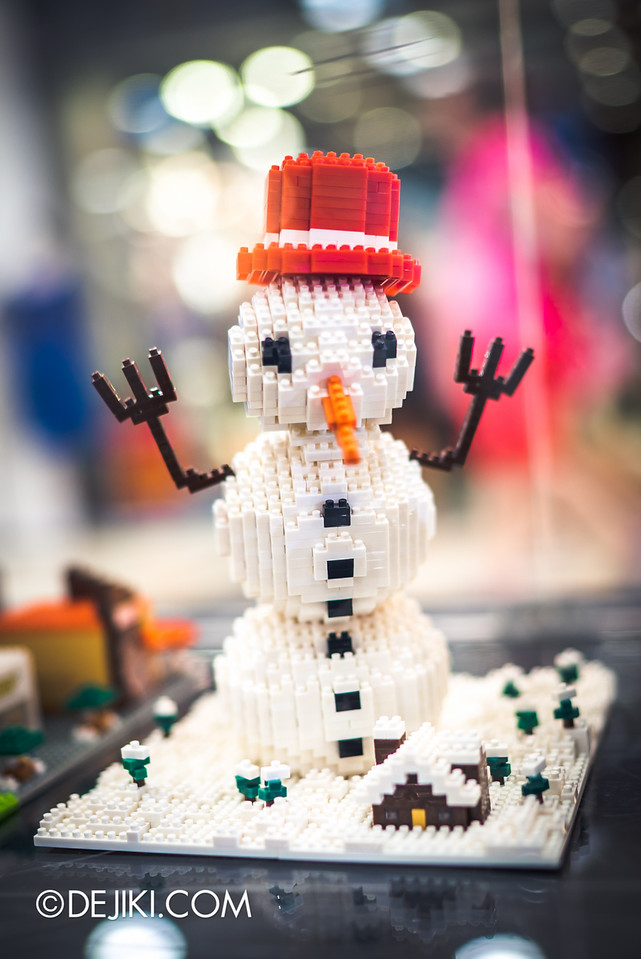 Christopher Tan nanoblock art exhibition in Singapore - Snowman