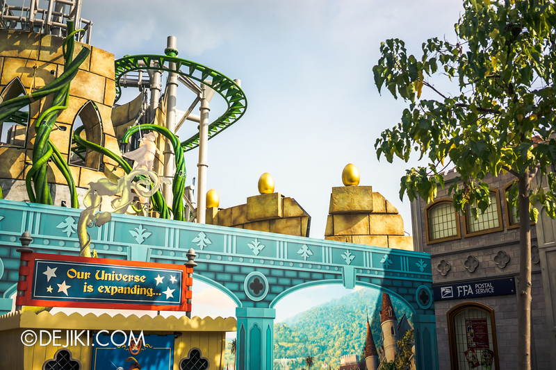 Universal Studios Singapore - Park Update December 2014 - Puss in Boot's Giant Journey 2 / Golden Eggs