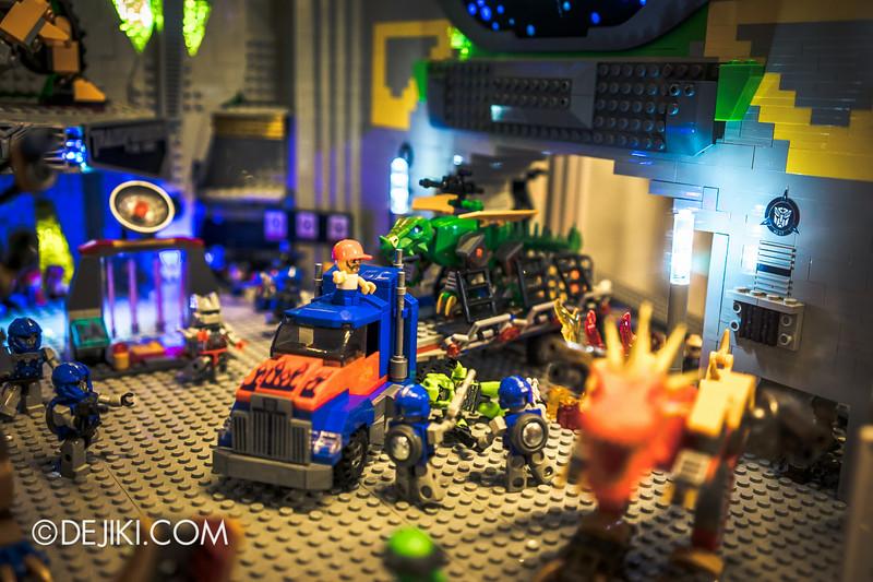 Universal Studios Singapore - Park Update July 2014 - Transformers Sci-Fi City KRE-O Diorama at Transformers Supply Vault 10