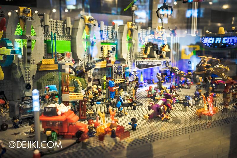 Universal Studios Singapore - Park Update July 2014 - Transformers Sci-Fi City KRE-O Diorama at Transformers Supply Vault 1