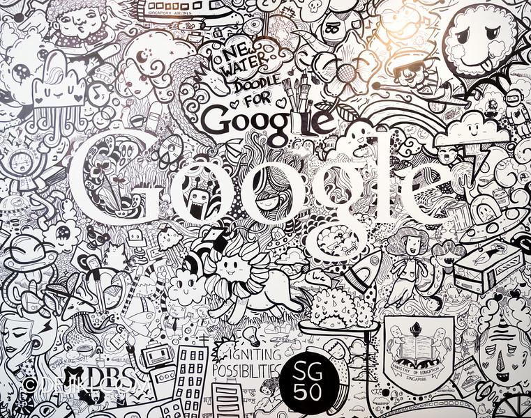 Google Shophouse - Google Doodle Mural