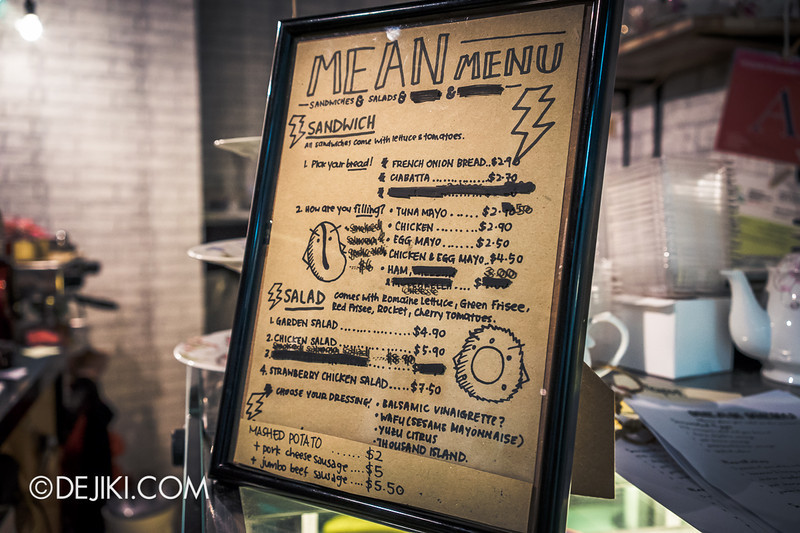 Mean Bean & Wicked Grind - 7 / Menu