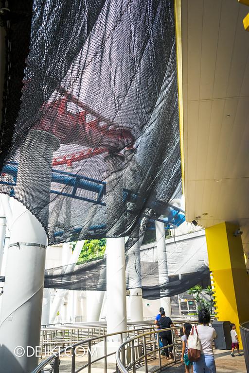 Universal Studios Singapore - Park Update February 2015 - Battlestar Galactica dueling roller coasters reopening - amazing nets 4