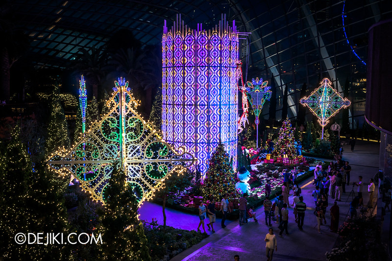 Gardens by the Bay - Yuletide in the Flower Dome at night - The Tower 2