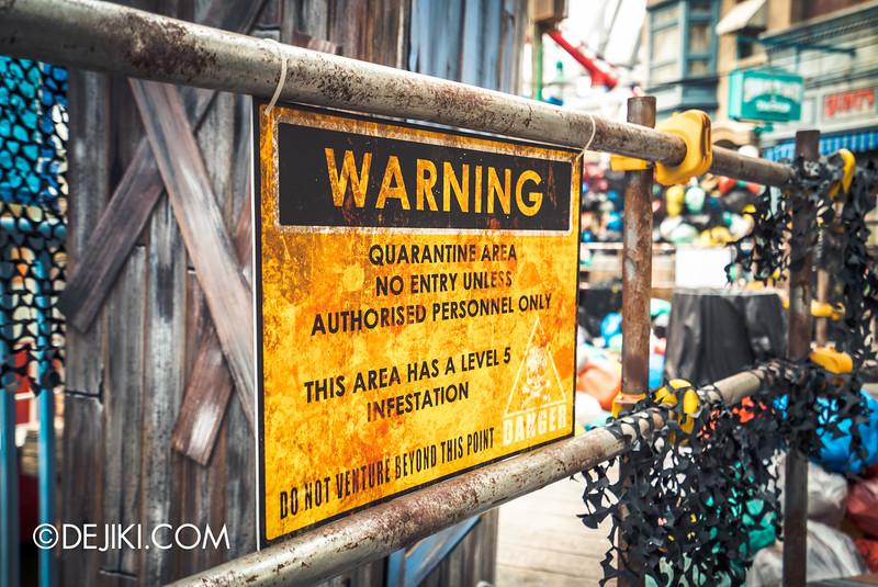 Universal Studios Singapore - Halloween Horror Nights 5 Before Dark Day Photo Report 3 - ConTERMINATED signs