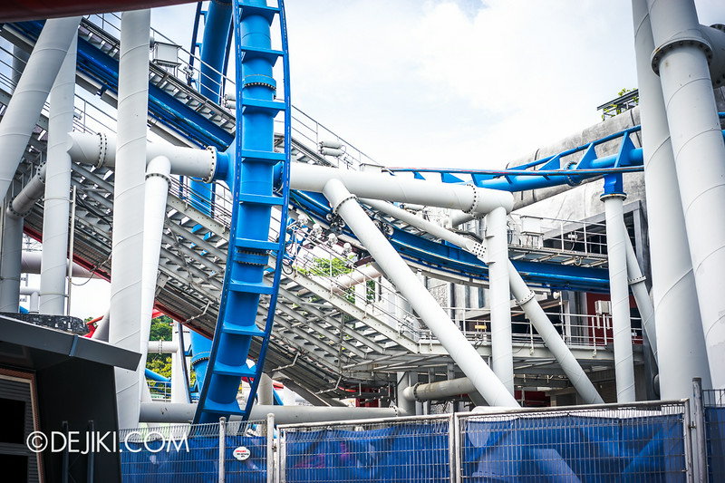 Universal Studios Singapore - Park Update August 2014 - Battlestar Galactica repair update 5