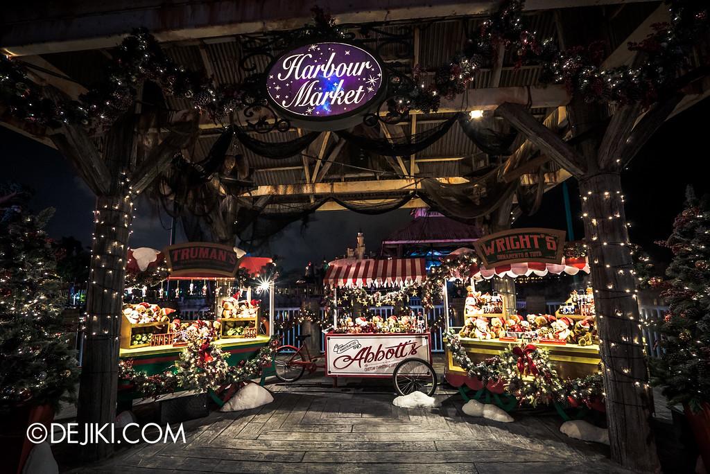 Universal Studios Singapore - Park Update December 2015 / A Scrooge Christmas Splendour - Harbour Market