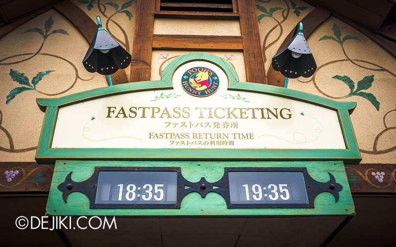 Tokyo Disneyland - Pooh's Hunny Hunt: Fastpass Ticketing Times