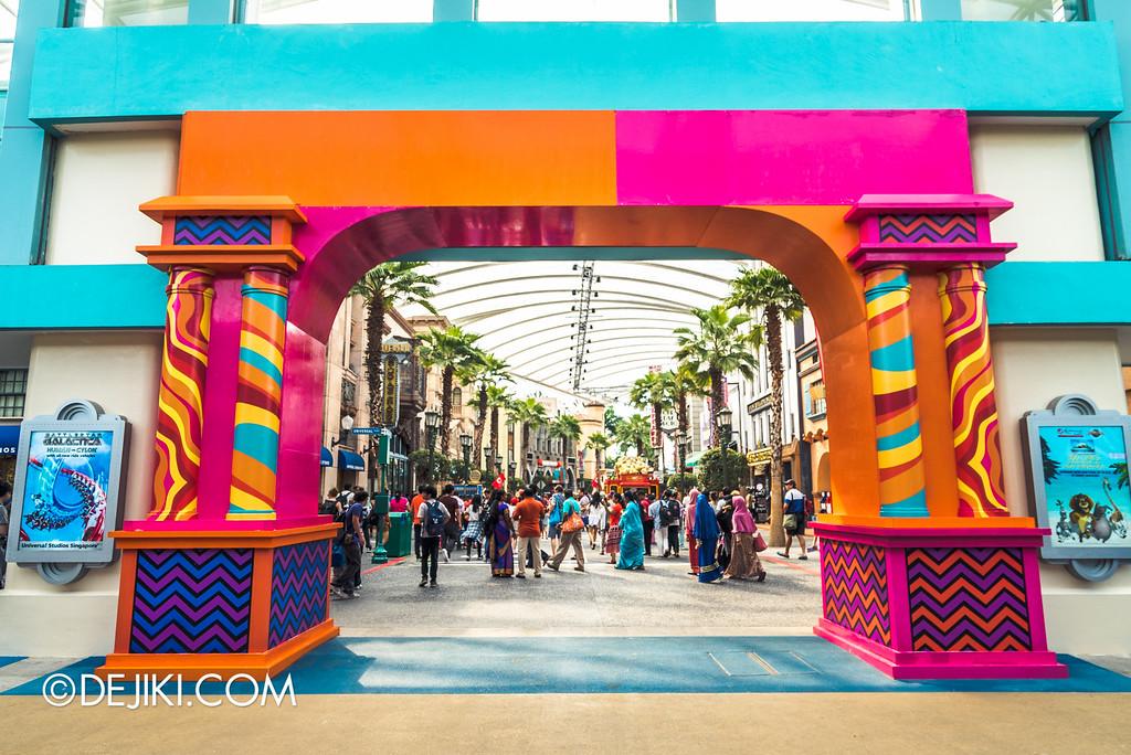 Universal Studios Singapore - Park Update March 2016 / Park Entrance Arch