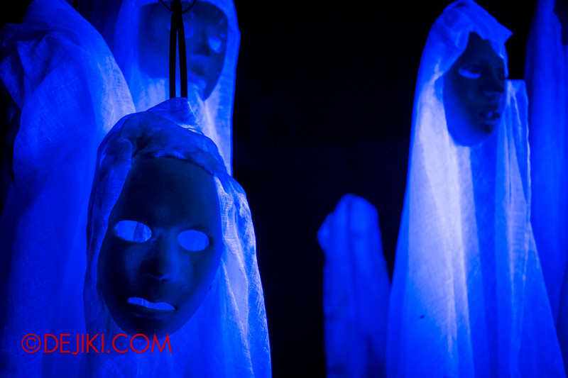 Sentosa Spooktacular 2014 - ALONE Haunted House / The House, continued 2 - masks