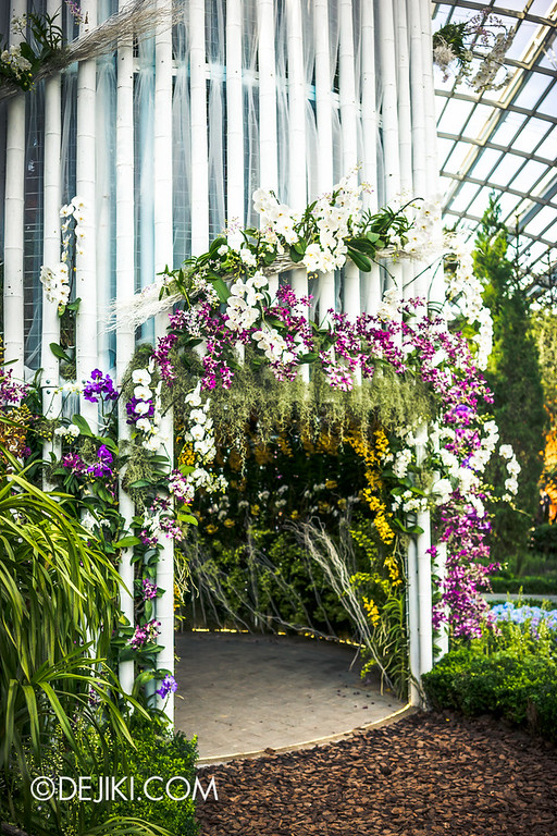 Gardens by the Bay - Orchid Extravaganza - Gate to The White Tower