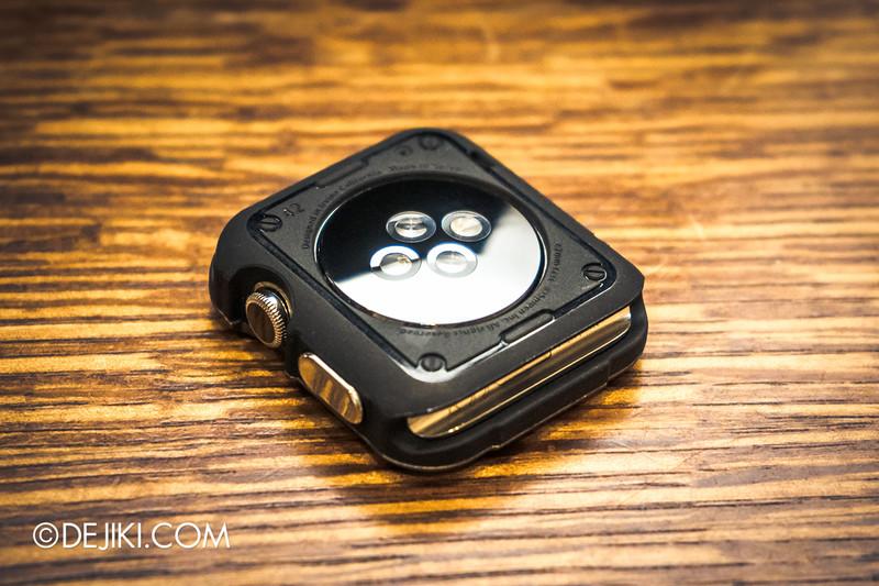 Apple Watch in Singapore - Spigen Tough Armor case for Apple Watch, installed on Stainless Steel 42mm Apple Watch