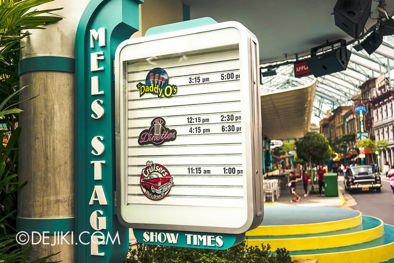 Universal Studios Singapore - Show Times