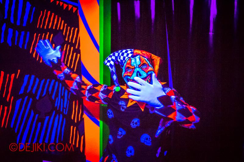 Halloween Horror Nights 4 - Jack's 3-Dementia 3D haunted house - Killer clown