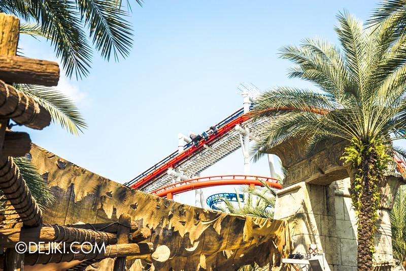 Universal Studios Singapore - Park Update October 2014 - Battlestar Galactica BSG roller coaster 3