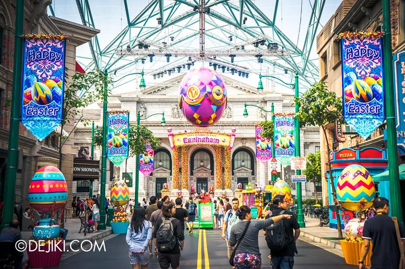 Universal Studios Singapore - Easter Eggstravaganza 2015 - Egghingham, New York