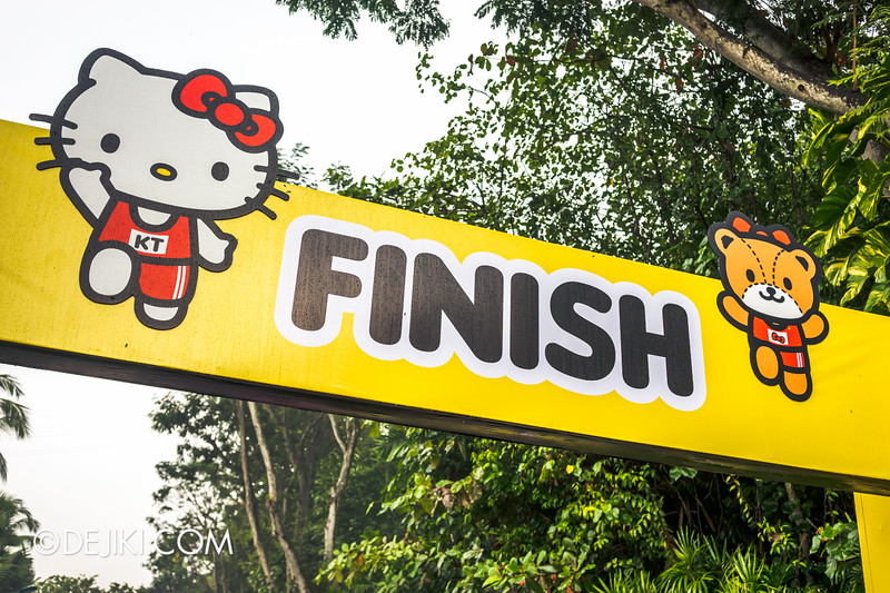 Hello Kitty Run Singapore - The Finish Point