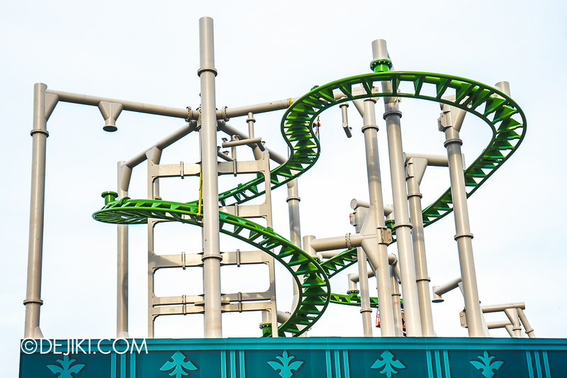 Universal Studios Singapore - Park Update July 2014 - Puss in Boots rollercoaster update 4