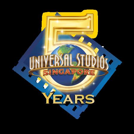 Universal Studios Singapore 5th Anniversary logo